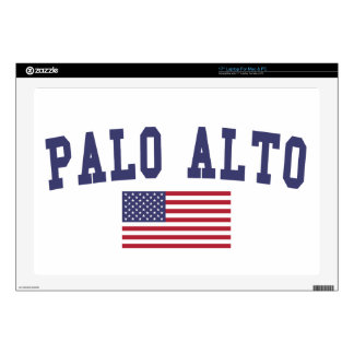 "Palo Alto US Flag 17"" Laptop Skins"