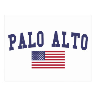 Palo Alto US Flag Postcard
