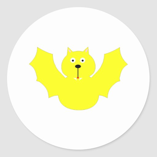 Palo (amarillo) pegatina redonda