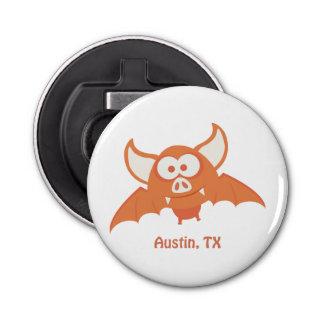 Palo anaranjado - Austin, TX Abrebotellas Redondo