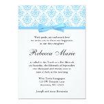 Palo azul claro Mitzvah del arco de la cinta del Anuncio