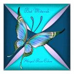 Palo azul Mitzvah de la mariposa del trullo Comunicado