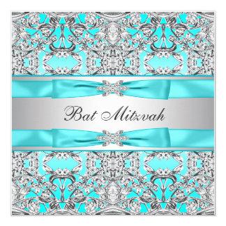 """Palo azul Mitzvah del trullo Invitación 5.25"""" X 5.25"""""""