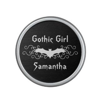 Palo blanco con volantes del chica gótico personal