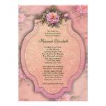 Palo color de rosa rosado bonito Mitzvah Comunicados