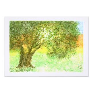 Palo de Aleph del árbol del verano/invitación de M