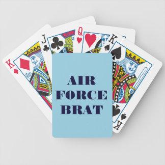Palo de golf de la fuerza aérea de los naipes baraja cartas de poker