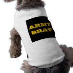 Palo de golf del ejército de la ropa del mascota camisa de perro