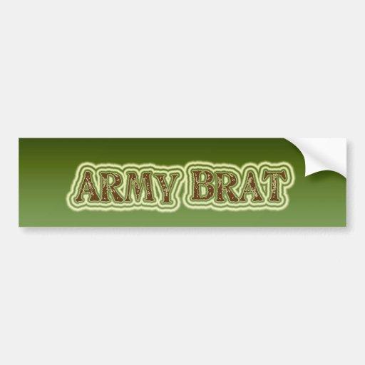 Palo de golf del ejército etiqueta de parachoque