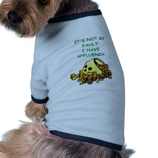 palo de golf estropeado camisa de mascota