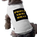 Palo de golf orgulloso del ejército de la ropa del camisa de perro
