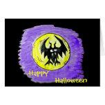 Palo de Halloween de la tarjeta de Halloween