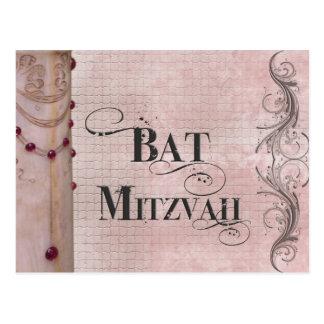 Palo de mármol Mitzvah del diseño Postales