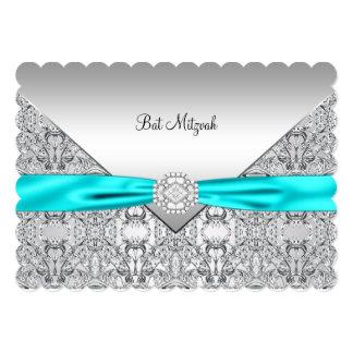 Palo de plata azul Mitzvah del trullo del trullo Invitacion Personal