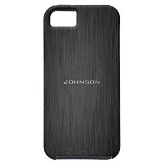 Palo de rosa de lujo del negro oscuro con el nombr iPhone 5 carcasas