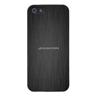 Palo de rosa de lujo del negro oscuro con el nombr iPhone 5 cárcasas