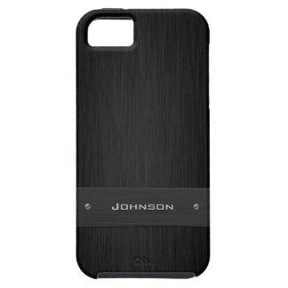 Palo de rosa del negro oscuro y etiqueta de lujo d iPhone 5 carcasas