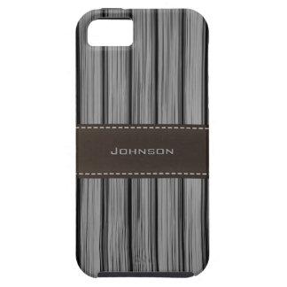 Palo de rosa del negro oscuro y nombre de encargo iPhone 5 Case-Mate cobertura