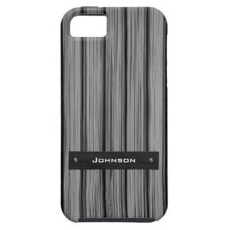 Palo de rosa negro de lujo con la etiqueta conocid iPhone 5 Case-Mate carcasa