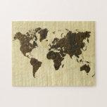 Palo de rosa y mundo rizado Map.jpg de Río del arc Rompecabezas Con Fotos