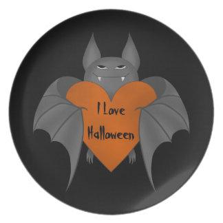 Palo de vampiro amoroso divertido de Halloween Platos