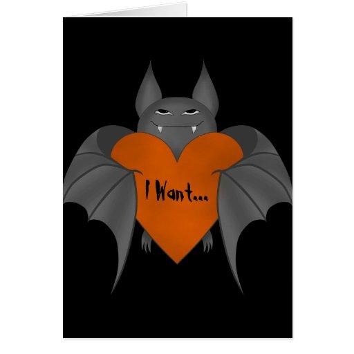 Palo de vampiro amoroso divertido de Halloween Tarjeta De Felicitación