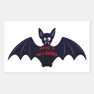 Palo de vampiro asustadizo de Halloween Pegatina Rectangular
