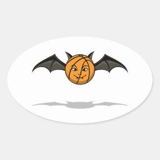 Palo de vampiro del baloncesto de Halloween Calcomanía Óval