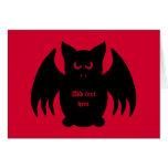 Palo de vampiro negro gótico lindo felicitacion