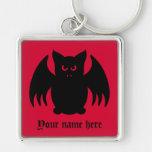 Palo de vampiro negro gótico lindo llaveros