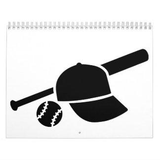 Palo del basecap del béisbol calendarios