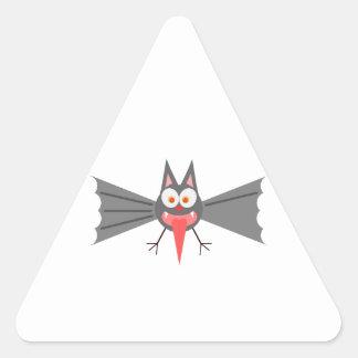 Palo del dibujo animado que pega hacia fuera la pegatinas de triangulo personalizadas