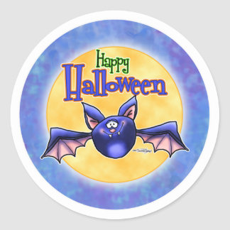 Palo del feliz Halloween Pegatina Redonda