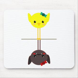 palo del pájaro del jackill tapete de ratón