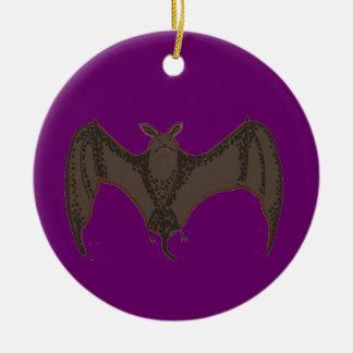 Palo del vuelo adorno navideño redondo de cerámica