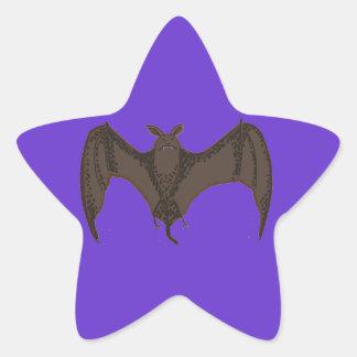 Palo del vuelo pegatina en forma de estrella