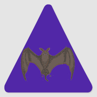Palo del vuelo pegatina triangular