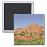 Palo Duro Canyon, Texas.  Successive rock layers 2 Inch Square Magnet