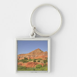 Palo Duro Canyon, Texas.  Successive rock layers Keychain