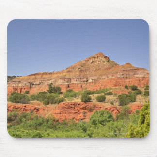 Palo Duro Canyon, Texas.  Successive rock layers Mouse Pad
