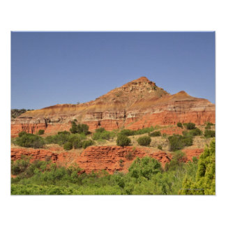 Palo Duro Canyon, Texas.  Successive rock layers Poster
