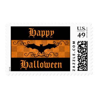 Palo elegante gótico con feliz Halloween de los Sellos