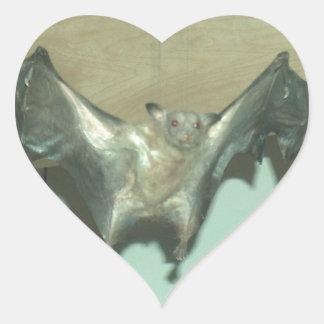 Palo enorme zorro de vuelo pegatina de corazón