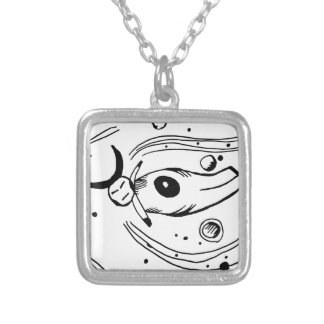 Palo floats in space personalized necklace