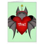 Palo gótico amoroso del navidad con el corazón tarjeta pequeña