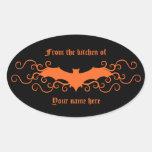 Palo gótico elegante del victorian en naranja en n pegatina