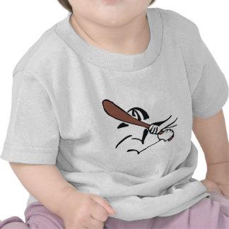 palo marrón del béisbol camisetas