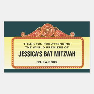 Palo Mitzvah de la barra de la carpa del teatro Pegatina Rectangular
