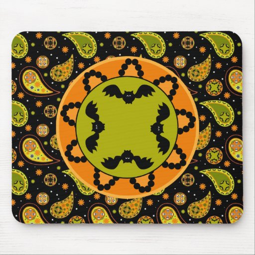 Palo Mousepad de Halloween Paisley Alfombrillas De Ratón