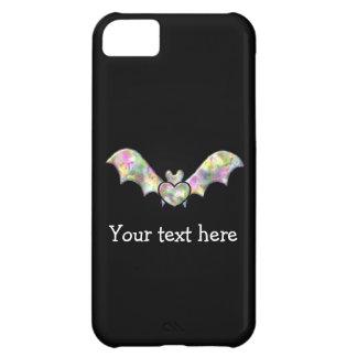 Palo negro personalizado con el corazón funda para iPhone 5C